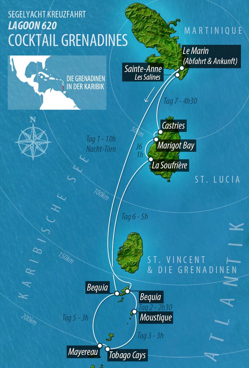 Karibik Karte Deutsch.Barone Yachting Segelyacht Kreuzfahrten Segelyacht Kreuzfahrt