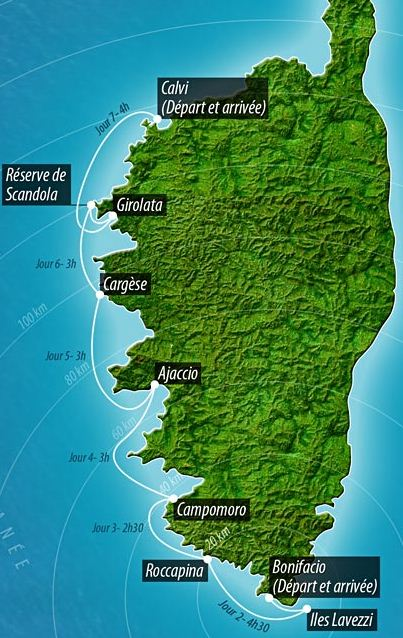 Map Of West Coast Of France.Barone Yachting France Itinerary Corsica West Coast Bonifacio